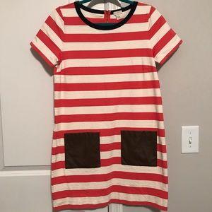 J. Crew Striped Pocket Dress